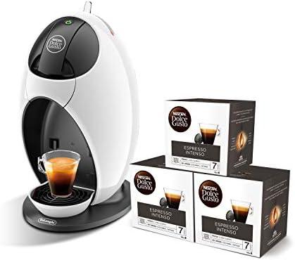 Pack DeLonghi Dolce Gusto Jovia EDG250.W - Cafetera de cápsulas, 15 bares de presión, color blanco + 3 packs de café Dolce Gusto Espresso Intenso: Amazon.es: Hogar