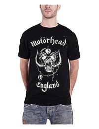 Motorhead T Shirt England Classic War Pig Band Logo Official Mens New Black