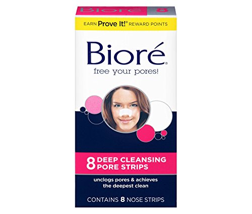 Biore Deep Cleansing Pore Strips, 8 Count Nose Strips