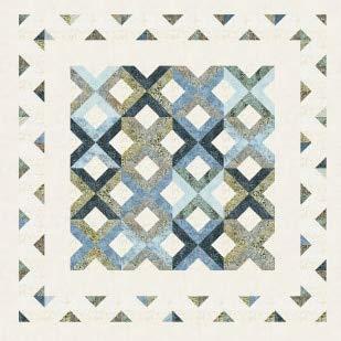Pattern~StripTube Lattice~2 1/2in Strips Cozy Quilt