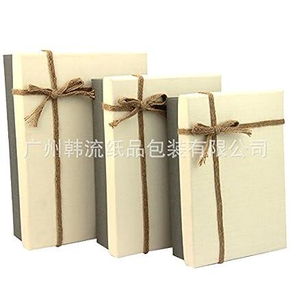 La ola coreana rectangular caja de regalo elegante caja de regalo de empresa caja de regalo