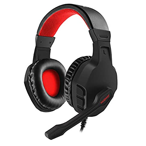 NUBWO U3 3.5mm Gaming Headset for PC, PS4, Laptop, Xbox One, Mac, iPad, Nintendo Switch Games, Computer Game Gamer Over Ear Flexible Microphone Volume Control with Mic - 41mvYPr57eL - NUBWO U3 3.5mm Gaming Headset for PC, PS4, Laptop, Xbox One, Mac, iPad, Nintendo Switch Games, Computer Game Gamer Over Ear Flexible Microphone Volume Control with Mic