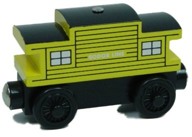 (Yellow Sodor Line Caboose - Thomas & Friends Wooden Railway Tank Train Engine - Brand New Loose)