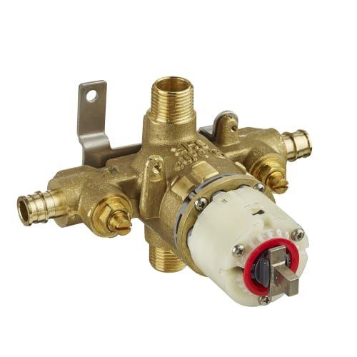 American Standard R128SS Pressure Balance Rough Valve Body with Pex Inlets/Universal Outlets with Screwdriver Stops for Cold Expansion System (ASTM 1960), No Finish