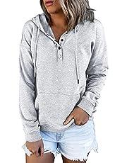 Ezymall Women's Long Sleeve Shirts Casual Pullover Hoodies Sweatshirts Teen Girls Clothes Fall Tops