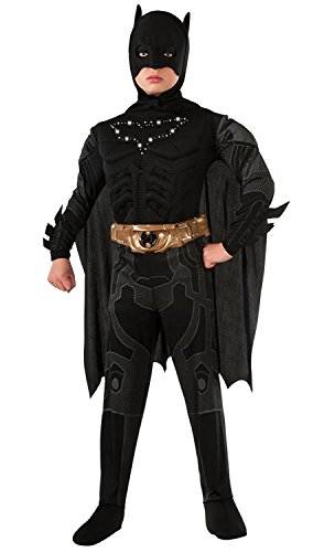 Batman Dark Knight Rises Child's Deluxe Light-Up Batman Costume with Mask and Cape - (Kids Dark Knight Batman Costume)