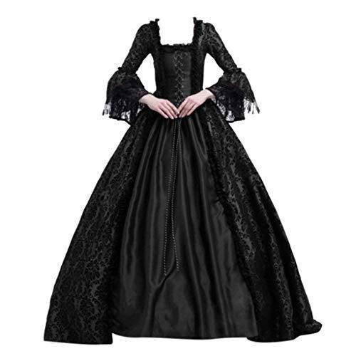 Centory Women Renaissance Gothic Dark Queen Dress Ball Gown Steampunk Vampire Halloween ()