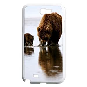 Cute Bear Unique Design Cover Case with Hard Shell Protection for Samsung Galaxy Note 2 N7100 Case lxa#445440