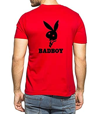 020f215277c Clifton Men s Back Printed Half Sleeve V-Neck T-Shirt-Bad Boy-B-Red-2XL   Amazon.in  Clothing   Accessories