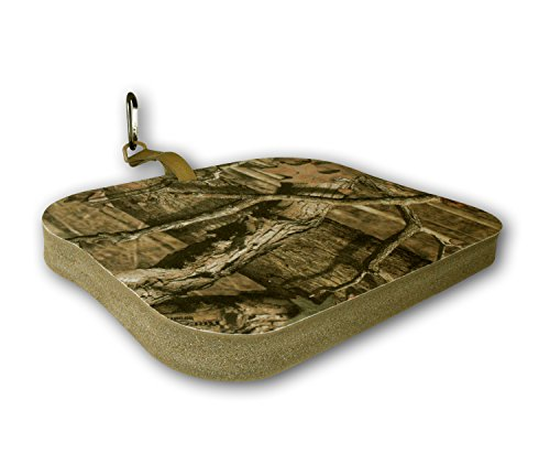 NEP Outdoors THERM-A-SEAT 1.5-Inch Thick Big Boy Hunting Seat Cushion with Softek Foam and Velcro Strap, Mossy Oak Infinity, 13.5 x 17-Inch - Oak Foam