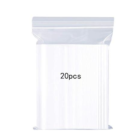 Bolsas de plástico Transparentes Que se Pueden Volver a sellar Bolsa de Cierre de Cremallera Reutilizable Fuerte Engrosamiento y Duradero Prensa para ...