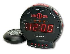 Sonic Alert Digital Alarm Clock with Bat...