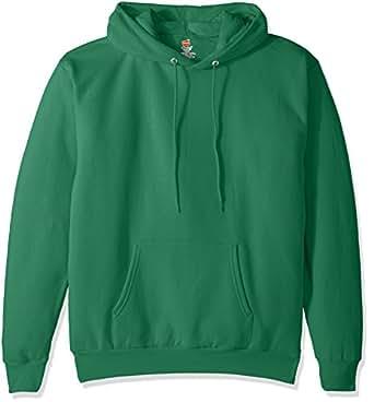 Hanes Men's Pullover EcoSmart Fleece Hooded Sweatshirt, Kelly Green, Small