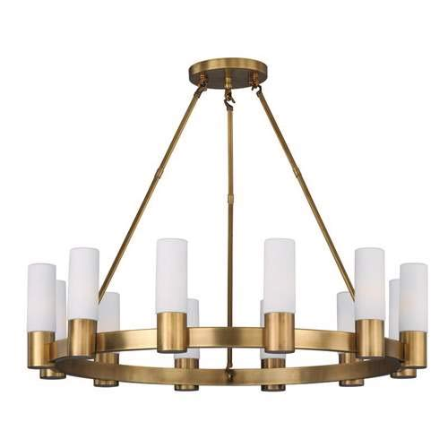 Maxim Lighting Contessa Natural Aged Brass 12-Light Chandelier 22419SWNAB (Contessa 12 Light)