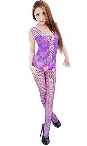 Kmety Women Sexy Lingerie Sleepwear Nightwear Fishnet Bodysuit Bodystocking