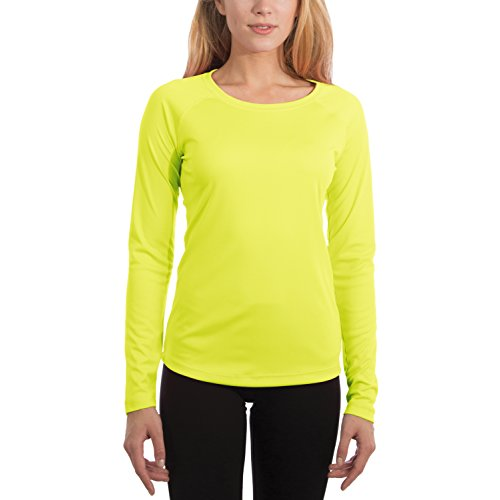 (Vapor Apparel Women's UPF 50+ UV Sun Protection Performance Long Sleeve T-Shirt XX-Large Safety Yellow)