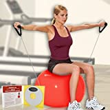 Everlast 193101 Pilates Ball with Resistance Tubing and Instructional DVD