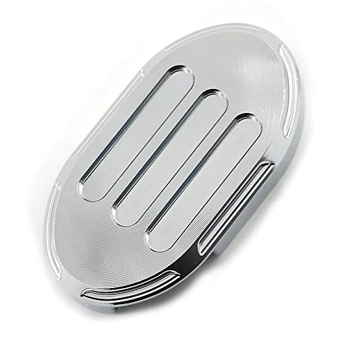 Alpha Rider Motorcycle Chrome CNC Billet Aluminum Motorcycle Brake Pedal Cover Pad For Harley Sportster XL 883 1200 48 New Edge Style ()