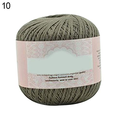 (Aland Mercerized Cotton Cord Thread Yarn for Embroidery Crochet Knitting Lace Jewelry 10)
