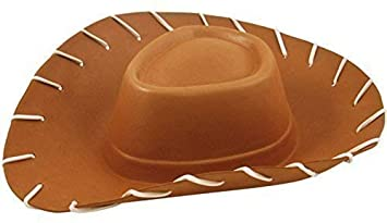 Adults EVA Brown Cowboy Hat Toy Story Fancy Dress Costume Accessory by  Henbrandt 2a893ece7b2