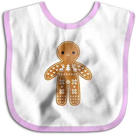 XHX Baby Sweater Pattern Gingerbread Cookie Drooling Bibs Burp Saliva Towel-5 Colors Choice