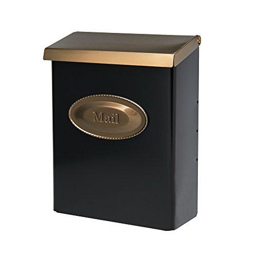 (Gibraltar Mailboxes Designer Locking Medium Capacity Galvanized Steel Black, Wall-Mount Mailbox, DVKGB000)
