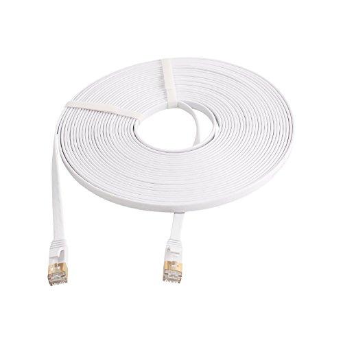 10 Gigabit Ultra Flat Cat-7 Ethernet Cables for Modem Router LAN Network - 2