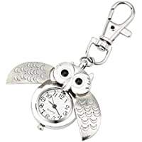 FAPIZI Clearance✿Wristwatch Gift Key Ring Watch Fashion Gorgeous Owl Watch Clip Pocket Keychain