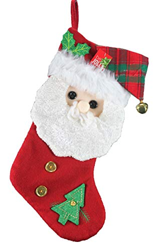 - dazzling deals Be Jolly Santa Character Stocking