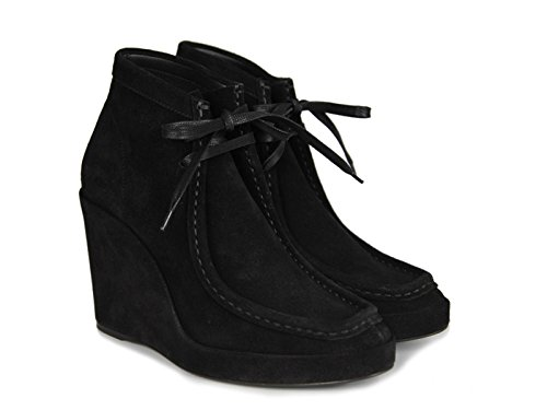Balenciaga Compensées à lacets en peau Retournée noir - Code modèle: 391080 WAVK0 1000 Noir dJEBb