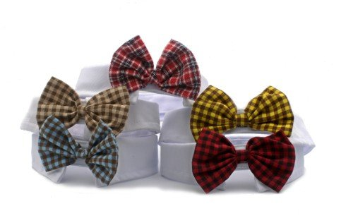 Namsan-Small-Dogs-Cats-Puppy-Pets-Bow-Tie-Neck-Tie-England-Style-6-Colors-Deep-redRedBlueCoffeeYellow