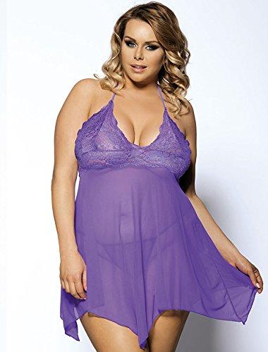 Plus size sexy lingerie dresses