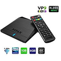 M96x Mini Pc Android 6.0 TV Box Quad Core 1GB DDR 8GB EMMC Flash Amlogic S905x 64 Bits Processor True 4K Playing Smart Movies Player Meida Streaming Players 1080P Full HD support Wifi HDMI