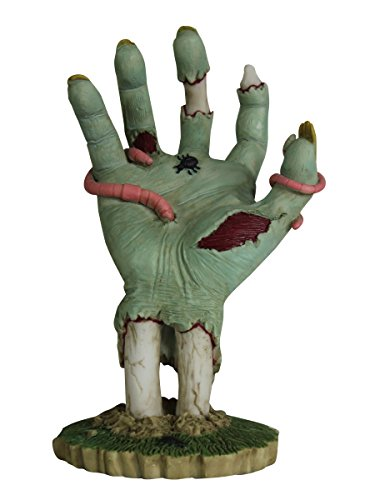 (YTC 6.25 Inch Cold Cast Resin Decaying Zombie Hand with Worms)