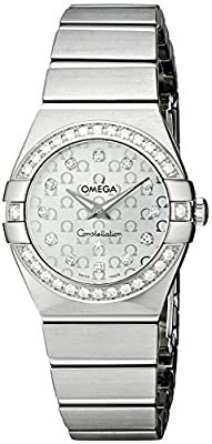 Omega Women's 123.15.24.60.52.001 Constellation Stainless Steel Watch with Diamonds