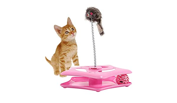 Amazon.com : Best Quality Round Shape Funny cat Turntable cat pet Toy Ball with Cute Mouse cat Toys for Small pet Toy : Pet Supplies