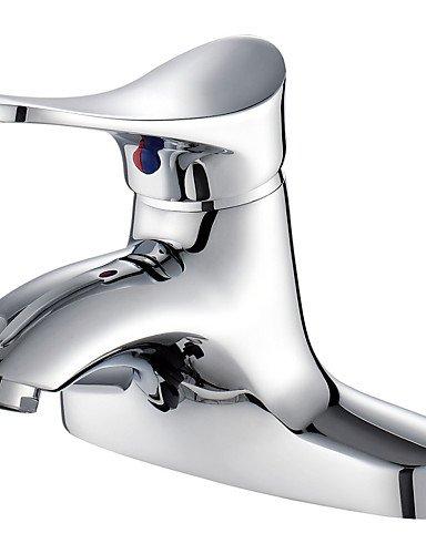 Two Holes Single Handle Chrome Hot&Cold Mixer Water Taps Basin Bath Kitchen Bathroom Wash Basin Faucet