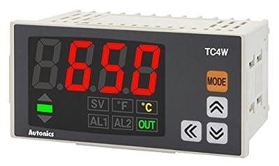 Autonics TC4W-N4N Temp Indicator, DIN W96 X H48mm, Single display 4 Digit, PID Control, without control output, No Alarm Output, 100-240 VAC