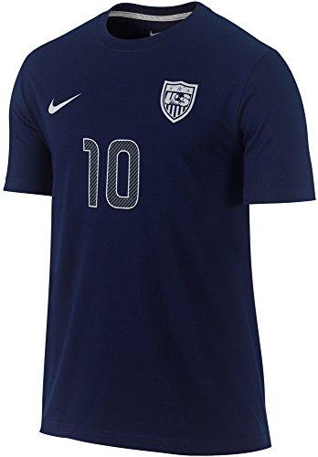 NIKE Men's Landon Donovan USA Soccer Name Number T-Shirt (Small, Navy - College Baseball Nike Jersey