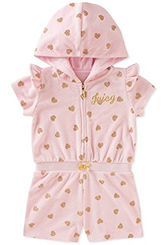 Juicy Couture Little Girls Hooded Romper (3T, Pink)