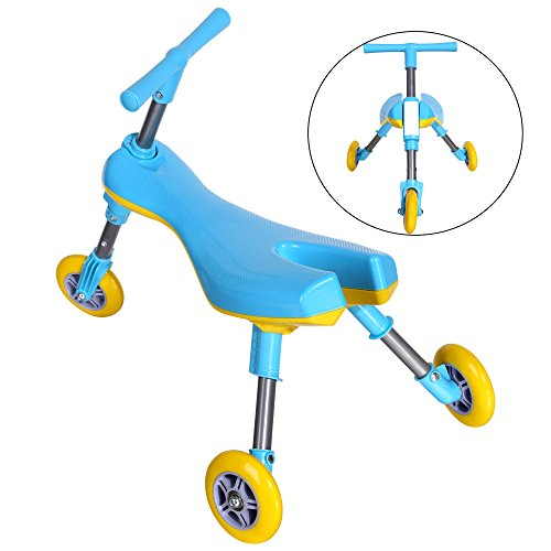 Funmily Foldable Tricycle Indoor Outdoor Toddlers Glide Tricycle for kids