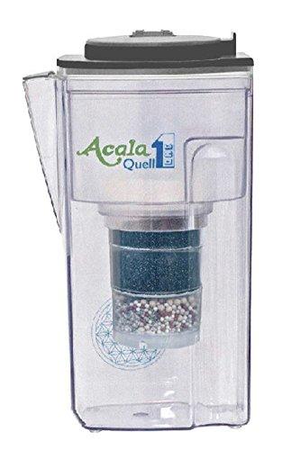Filtro de agua AcalaQuell One | Jarra con filtro de agua | Antracita | La filtración más alto rendimiento | Cartucho de filtro de varias capas | PI- ...