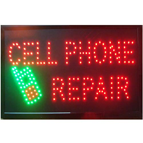 CHENXI Phone repairs led shop signs 48 X 25 CM Graphics Animated motion Running phone shop Led neon open sign (48 X 25 CM, C)