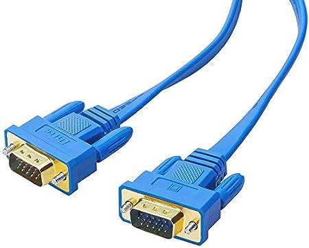 DTECH ultra fin C/âble VGA 15 broches m/âle vers m/âle pour /Écran Moniteur Projecteur PC TV HD 20m