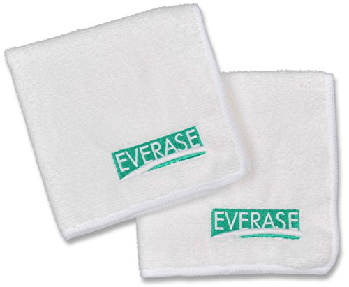 Everase Micro-Fiber Eraser | Cleaning Cloths for Whiteboards / Dry Erase Boards, 2-Pack