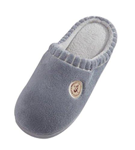 Cattior Mens Corail Maison Chaude Chaussures Chambre Pantoufles Gris