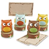 Kate Aspen Set of 4 Assorted Place Card/Photo Holder, Whooo's the Cutest Baby Owl (Discontinued by Manufacturer)