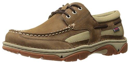 Sebago Men's Cyphon Stream Three Eye Boating Shoe, Dark Taupe Leather, 8 M US