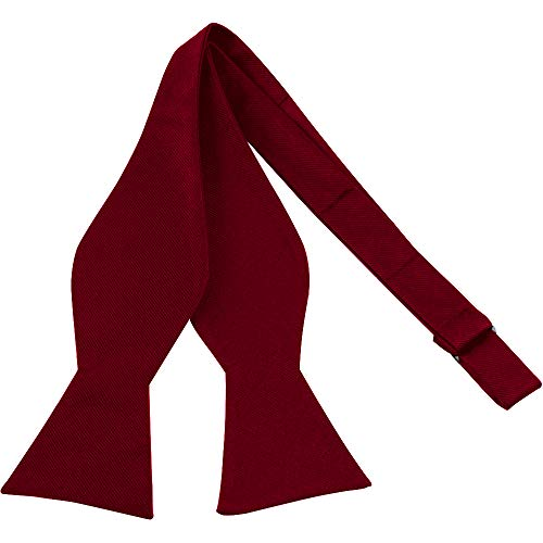 Luther Pike Self Tie Bow Ties For Men Bowtie Tuxedo Bow Tie (Burgundy)