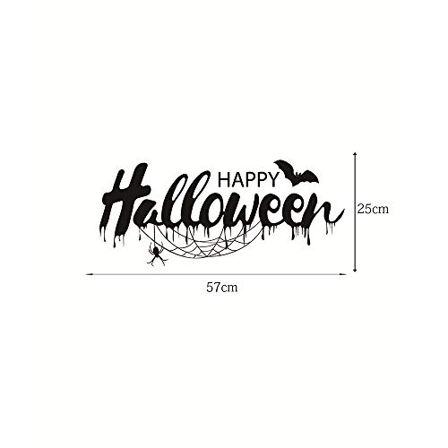Halloween Decoration,Feccile Happy Halloween Word Sign Background Living Room Bedroom PVC Wall Sticker Decal -